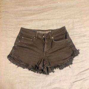 American Eagle cutoff black denim shorts